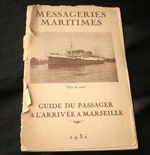 Cie Des Messageries Maritimes Handbook 1931 Guide