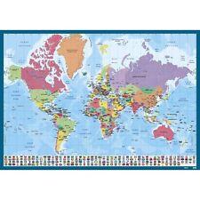Sous main Planisphère Monde, carte des pays, continent, protège bureau, Espagnol