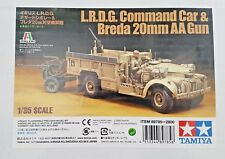 TAMIYA 1/35 WW II BRITISH L.R.D.G. COMMAND CAR & BREDA 20MM AA CANON 89785 F/S
