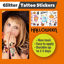 Halloween Temporary Glitter Tattoos Stickers Party Bags Halloween Fancy Dress