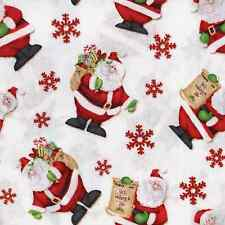 Henry Glass Kringle Crossing Father Christmas Santa Fabric Quilting Cotton