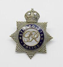 Obsolete George VI Metropolitan Police Senior Officer's Enamelled Cap Badge #37