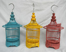 HAND Made in bambù e legno asiatico Bird Cage-pianta contenitore/Decor