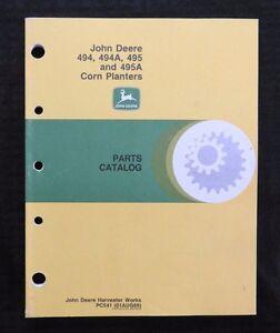 GENUINE 1957-69 JOHN DEERE 494 494A  495 495A PLANTER PARTS CATALOG MANUAL NICE