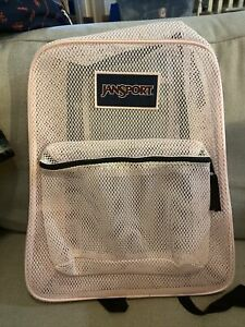 JanSport  Authentic  Pink Mesh  Backpack New With Tags