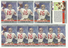 20 1990 Pro Set Super Bowl XXIV MVP Joe Montana San Francisco 49ers 24 Lot of 20
