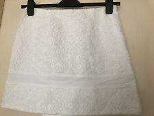 River Island A-Line Lace Pelmet Mini Skirt in White Size 6 8 10