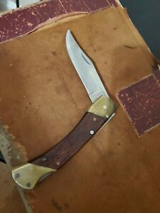 "VINTAGE SCHRADE  LB7 1-BLADE FOLDING HUNTING KNIFE -Locking 4"" Blade-Made in USA"