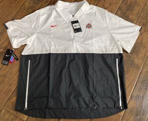 NWT Nike Ohio State On Field Quarter Zip Windbreaker Jacket Sz: S CQ5177-100 $70