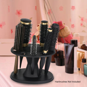 8 Slots Round Hair Brush Comb Stand Holder Display Rack Shelf Organizer Tool UK