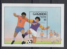 XG-T127 GRENADA IND - Football, 1986 Mexico '86 World Cup Overprinted MNH Sheet