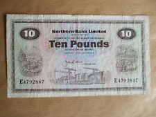 NORTHERN  BANK  £10  NOTE, 1986.