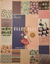The Paper Studio Elle Oh Elle Scrapbook Paper Pad 8.5×11 - 60 Sheets NEW