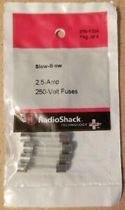 RadioShack 2.5A 250V Slow-Blow Fuses 270-1024 2701024 *FREE SHIPPING*