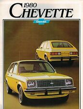 1980 Chevy CHEVETTE Brochure / Catalog w/ Color Chart: SCOOTER,HATCHBACK,'80