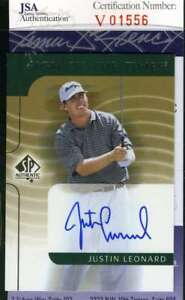 Justin Leonard 2003 Upper Deck Jsa Coa Autograph Authentic Hand Signed