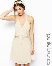 Petite Lace Sleeveless Knee Length Dresses for Women