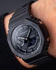 "G shock GA-2100-1A1ER ""casioak"" Triple Negro Reloj 100% Original Sellado"