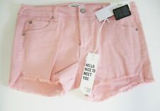 "Celebrity Pink Juniors 3"" Raw Edged Colored Denim Shorts Pinkstry Sz 11/30 - NWT"