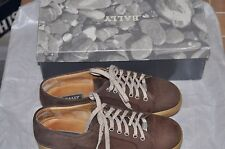 "BALLY ""Pulsar"" brown Suede Lace Up Sneakers/Shoes Italy Made EU7 US8 with box"