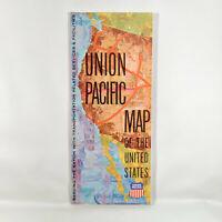 1971 Union Pacific Railroad Vintage Travel Brochure Map Locomotive Cars Services