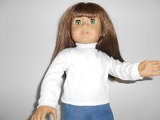"Long Sleeve White T--Shirt For 18"" Doll"