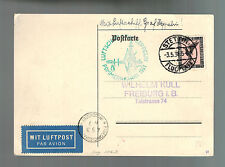 1931 Stettin Germany Graf Zeppelin Postcard Cover to Freiberg LZ 127