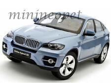 KYOSHO 08763BW BMW X6 ACTIVE HYBRID SUV 1/18 DIECAST LIGHT BLUE