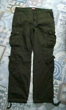 Vintage look Olive green Combat Trousers By Match Stick size 40