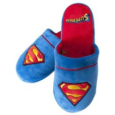 Official DC Comics Superman Slip On Super Soft Slippers - Fits 5-7 VII 7