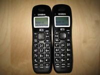 Lot of 2 Uniden D1384-2BK DECT 6.0 Cordless Expansion Handset Phone