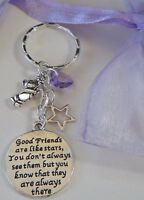 FRIENDS BEST FRIENDS KEYRING BAG CHARM GOOD FRIENDS ..... ALWAYS THERE GIFT
