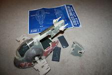 Star Wars Slave 1 Complete w/ Blueprints Kenner POTF 1996 - A709