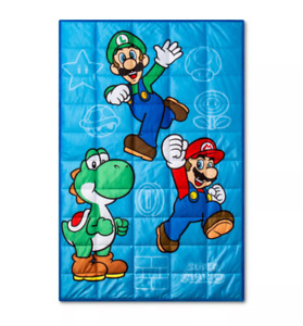 "Nintendo Super Mario 5-lb Weighted Blanket, 60"" x 40"" (New Without Tags / NOB)"