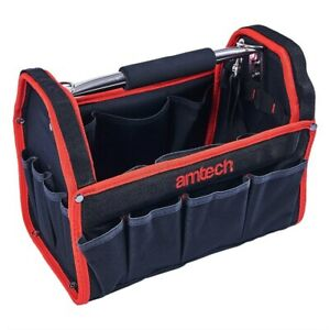 """Tool Bag 13"""" 19 Pockets Heavy Duty Tool Storage Carry Case Plumbers Electricians"""