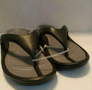 Crocs Men's Athens Flip Flops ExtraSoft Sandals Summer Shoes Black Size 11 NEW