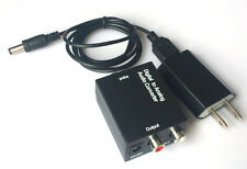 Optical Coaxial Toslink Digital to Analog Audio Converter Adapter RCA Power