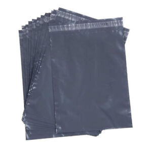 Grey Plastic Poly Mailing Bags Postal Envelopes Protective Packaging