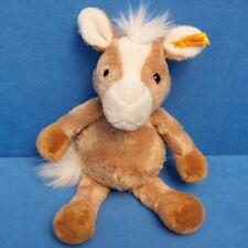 STEIFF COSY PONY PFERD 110078 STOFFTIER HORSE KNOPF & FAHNE 26 CM