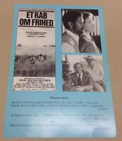 """Cry Freedom"" Denzel Washington Kevin Kline 1987 Danish Movie Press Release Kit"