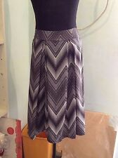 Black and White A-Line Skirt (to fit small to medium)