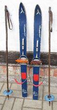 KINDER- SKIER 90 cm  Touren Ski old ancien antichi vieux PICCOLO + STÖCKE um1960