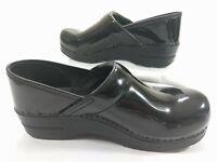 DANSKO Women's Professional Black Patent Leather Nurse Clogs Size 39 / 8.5 - 9