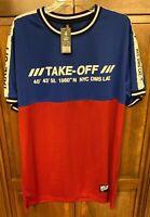 Lavish Society Jersey Take Off White Blue Red Black Shirt Men 2XL Athletic XL