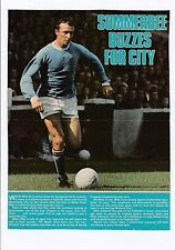 MIKE SUMMERBEE MANCHESTER CITY 1965-1975 ORIGINAL HAND SIGNED MAGAZINE CUTTING