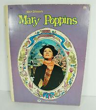 1964 Walt Disney's Mary Poppins Movie Picture Book Julie Andrews & Dick VanDyke
