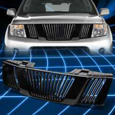 Glossy Black Vertical Bumper Protect Upper Grille Guard for 2005-2007 Pathfinder