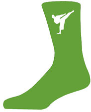 High Quality Green Socks With a Martial Arts Figure, Lovely Birthday Gift