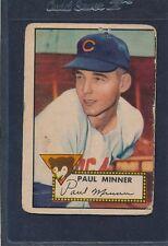 1952 Topps #127 Paul Minner Cubs Poor 52T127-33116-1