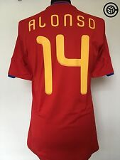 ALONSO #14 Spain Adidas Home World Cup 2010 Shirt Jersey (M)